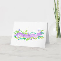 Prettige Kerstdagen, watercolor Christmas banner Holiday Card