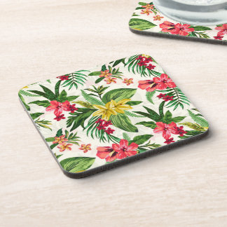 Prettily Flowers Pattern Coaster