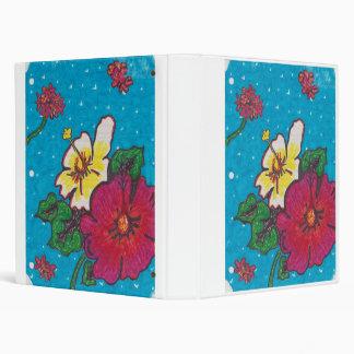 prettty flower binder