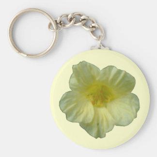 Prettty Nasturtium Flower Keychain