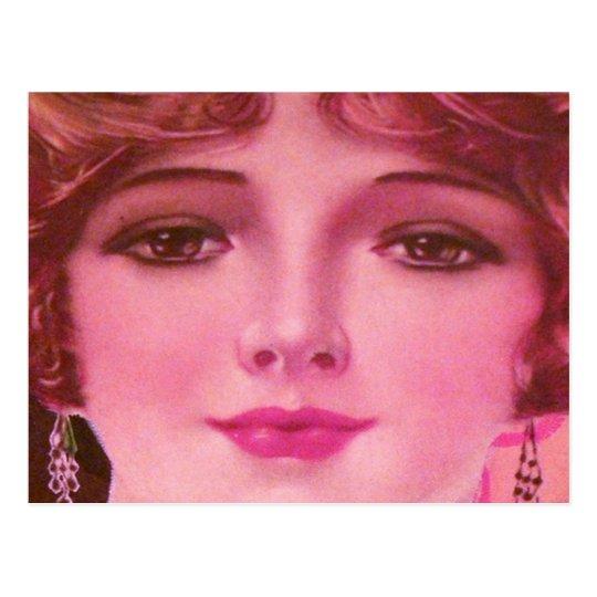 Pretty 1920s Flapper Girl Postcard
