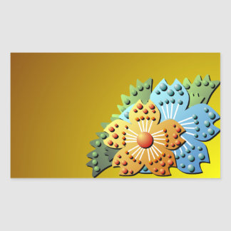 Pretty 3D Paper Flower Garden Sticker