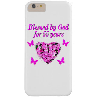 PRETTY 55TH BIRTHDAY FLORAL BARELY THERE iPhone 6 PLUS CASE