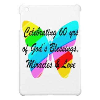 PRETTY 60TH BIRTHDAY RAINBOW BUTTERFLY DESIGN iPad MINI COVER