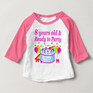 PRETTY 8TH BIRTHDAY PARTY CELEBRATION BABY T-Shirt