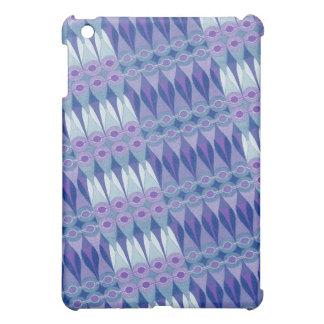 Pretty Abstract Accident in Purple and Blue iPad Mini Case