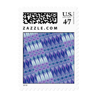 Pretty Abstract Accident in Purple and Blue Postage
