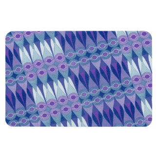 Pretty Abstract Accident in Purple and Blue Vinyl Magnets