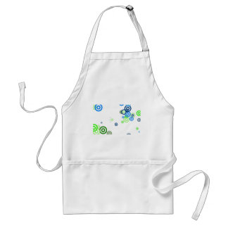 Pretty abstract art adult apron