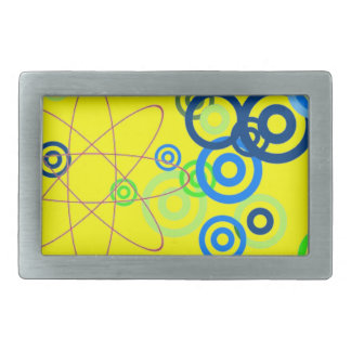 Pretty abstract art rectangular belt buckle