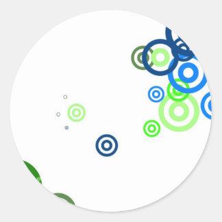 Pretty abstract art classic round sticker