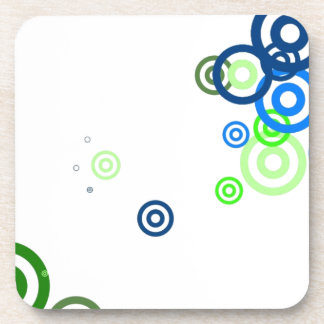 Pretty abstract art drink coaster