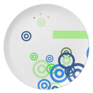 Pretty abstract art dinner plate
