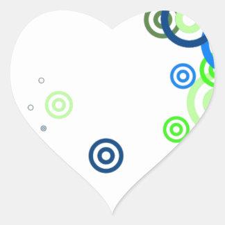 Pretty abstract art heart sticker
