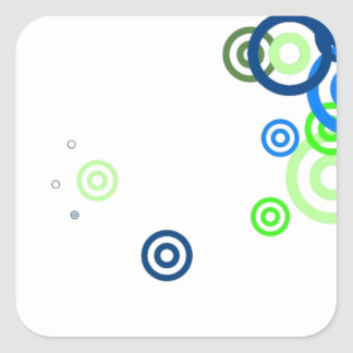 Pretty abstract art square sticker
