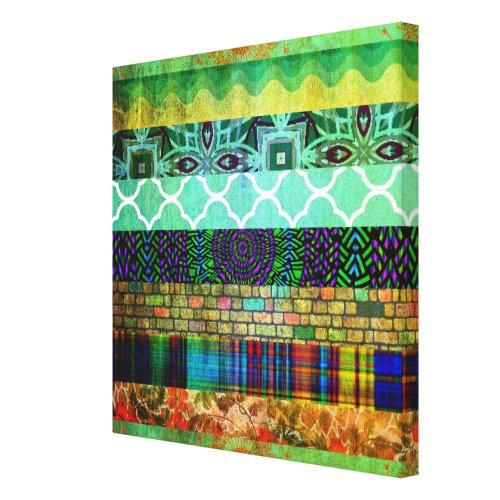 Pretty Abstract Bohemian Striped Pattern wall art