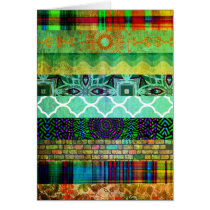 Pretty Abstract Bohemian Striped Pattern Card