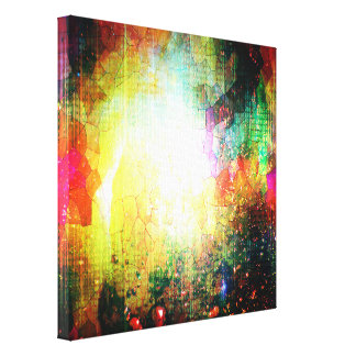 Pretty Abstract Bright Colorful Canvas Print