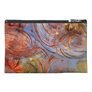 Pretty Abstract Floral Travel Accessories Bags