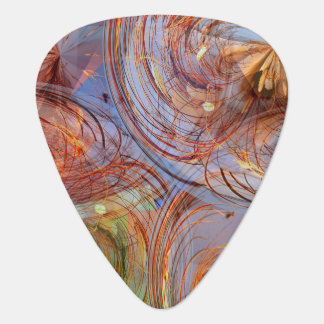 Pretty Abstract Floral Guitar Pick