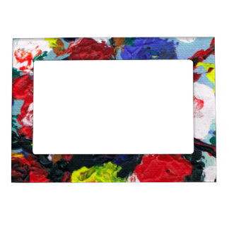 Pretty Abstract Floral pattern Magnetic Picture Frame