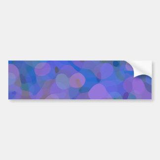 Pretty Abstract in Blue, Purple, and Green Bumper Sticker