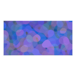 Pretty Abstract in Blue, Purple, and Green Card