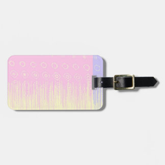 Pretty Abstract in Pale Pink and Yellow Bag Tag