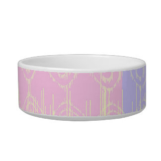 Pretty Abstract in Pale Pink and Yellow Bowl