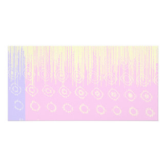 Pretty Abstract in Pale Pink and Yellow Card