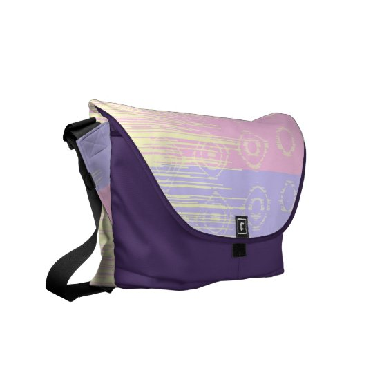 Pretty Abstract in Pale Pink and Yellow Courier Bag