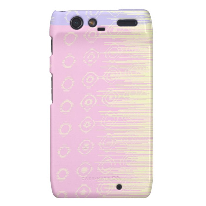 Pretty Abstract in Pale Pink and Yellow Droid RAZR Cover