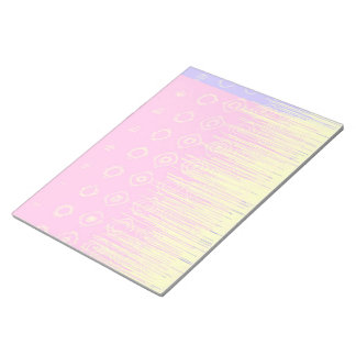 Pretty Abstract in Pale Pink and Yellow Notepad