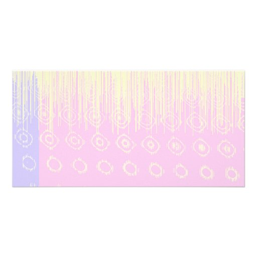 Pretty Abstract in Pale Pink and Yellow Photo Greeting Card