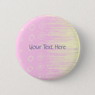 Pretty Abstract in Pale Pink and Yellow Pinback Button
