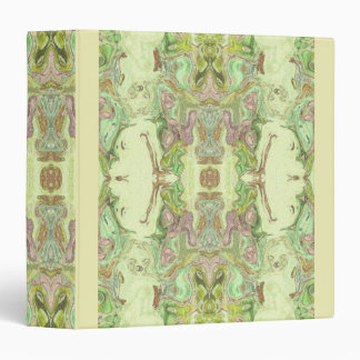 Pretty Abstract in Yellow, Lime, and Pink 3 Ring Binder