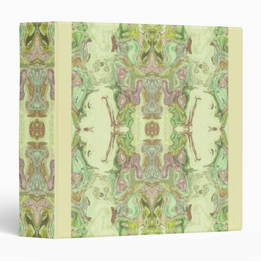 Pretty Abstract in Yellow, Lime, and Pink Vinyl Binder