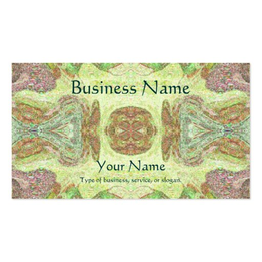 Pretty Abstract in Yellow, Lime, and Pink Business Card