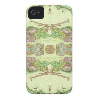 Pretty Abstract in Yellow, Lime, and Pink iPhone 4 Cover