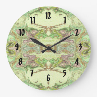 Pretty Abstract in Yellow, Lime, and Pink Wallclock