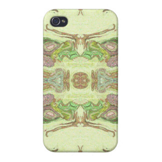 Pretty Abstract in Yellow, Lime, and Pink iPhone 4 Case