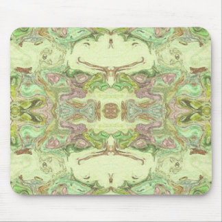 Pretty Abstract in Yellow, Lime, and Pink Mouse Pad