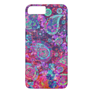 Pretty Abstract Pink and Aqua Paisley iPhone 8 Plus/7 Plus Case