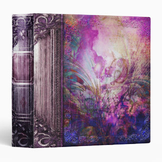 Pretty Abstract Purple Peacock Ancient Tome 3 Ring Binder
