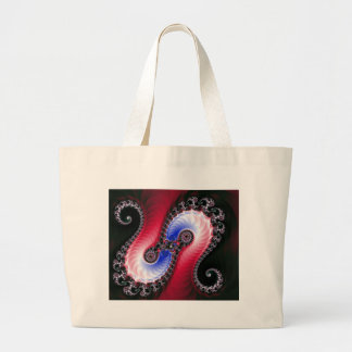 Pretty Abstract Swirl Red Blue Canvas Bag