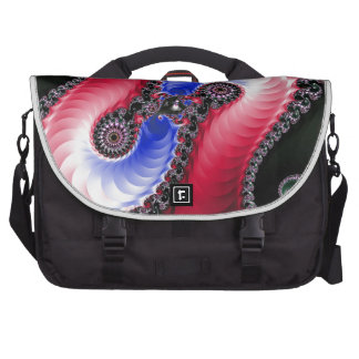 Pretty Abstract Swirl Red Blue Computer Bag