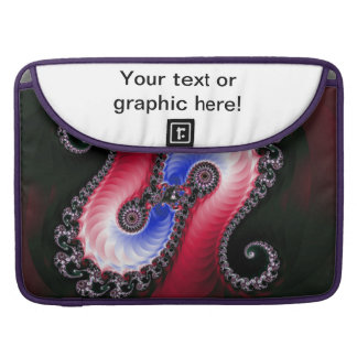 Pretty Abstract Swirl Red Blue MacBook Pro Sleeves