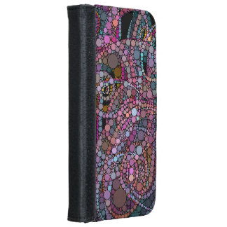 Pretty Abstract Trails iPhone 6/6s Wallet Case