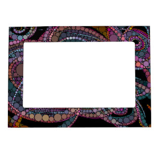 Pretty Abstract Trails Magnetic Picture Frame