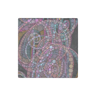Pretty Abstract Trails Stone Magnet